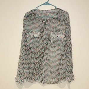 LIZ CLAIBORNE Button-down blouse. Sz XL